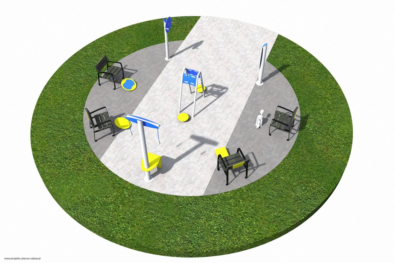 Projekt placu zabaw projekt ACTIVE SENIOR 3