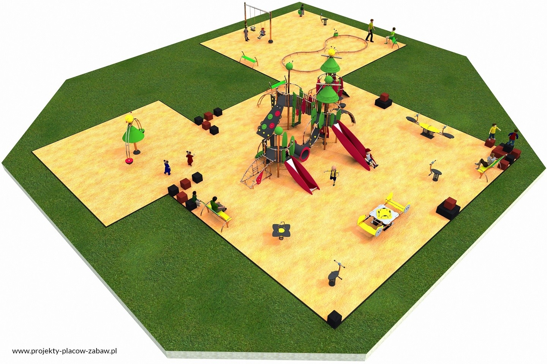 Projekt placu zabaw projekt COLOR KIDS 10