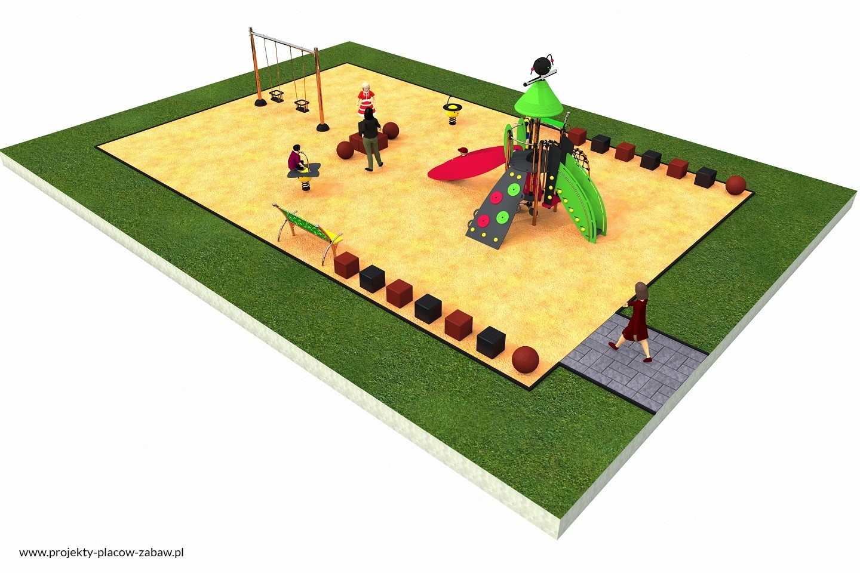 Projekt placu zabaw projekt COLOR KIDS 2