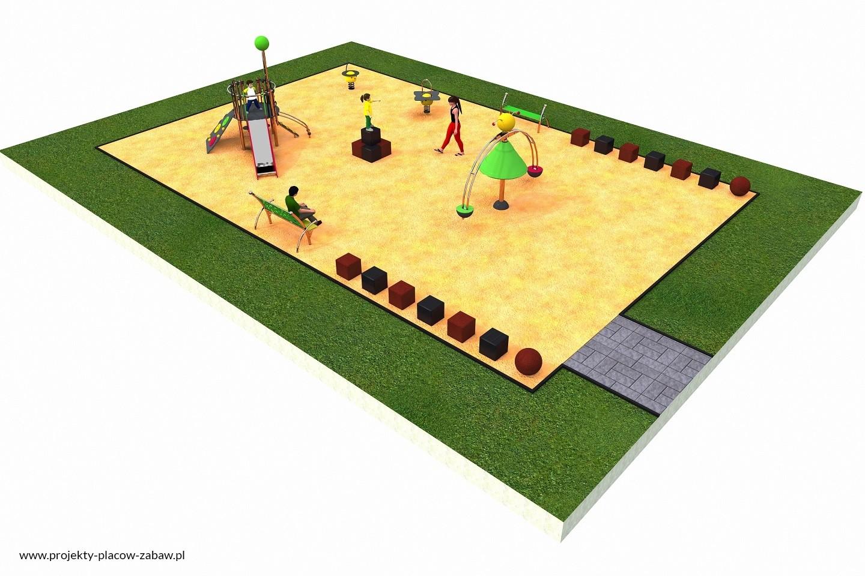 Projekt placu zabaw projekt COLOR KIDS 3