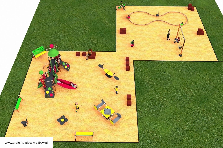 Projekt placu zabaw projekt COLOR KIDS 9