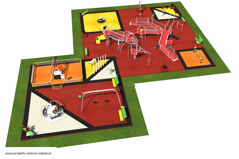 Projekt placu zabaw projekt INTEGRADO 4a