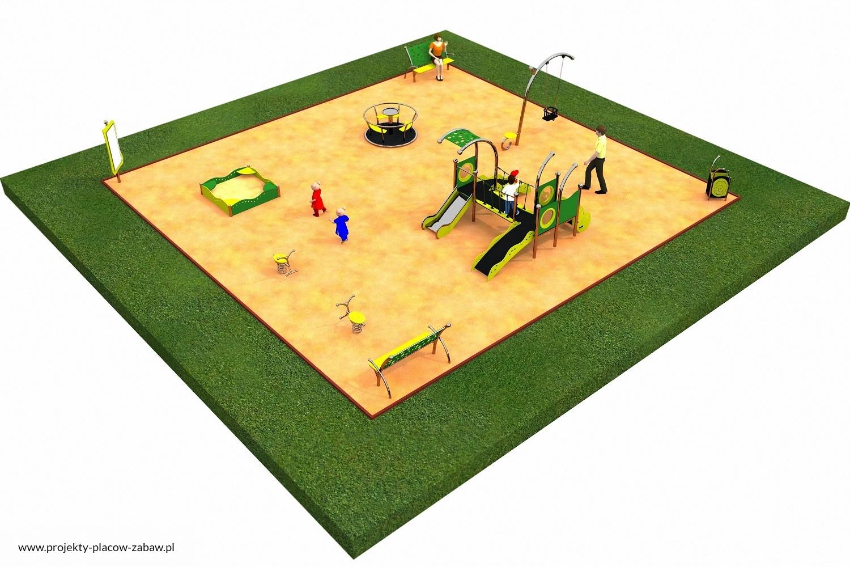 Projekt placu zabaw projekt LIMAKO MALUCH 2