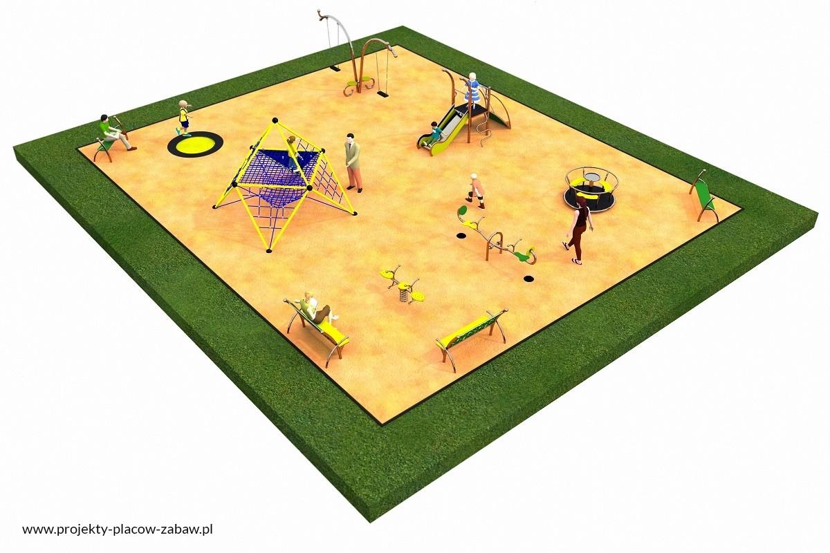 Projekt placu zabaw projekt LINARIUM 2