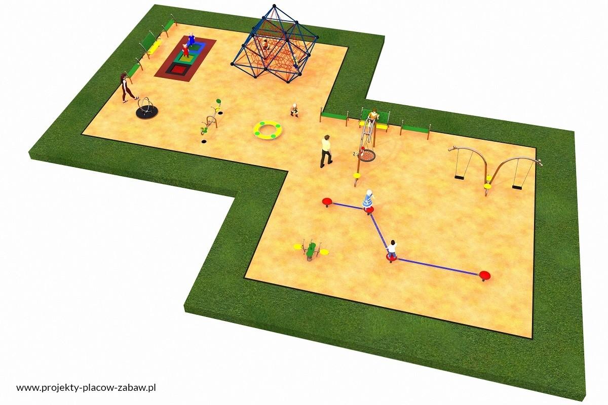Projekt placu zabaw projekt LINARIUM 4
