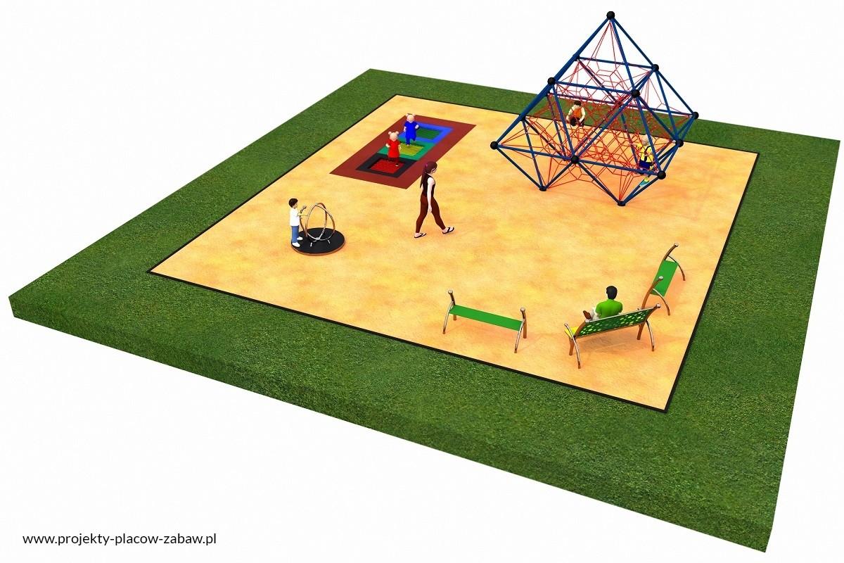Projekt placu zabaw projekt LINARIUM 4a
