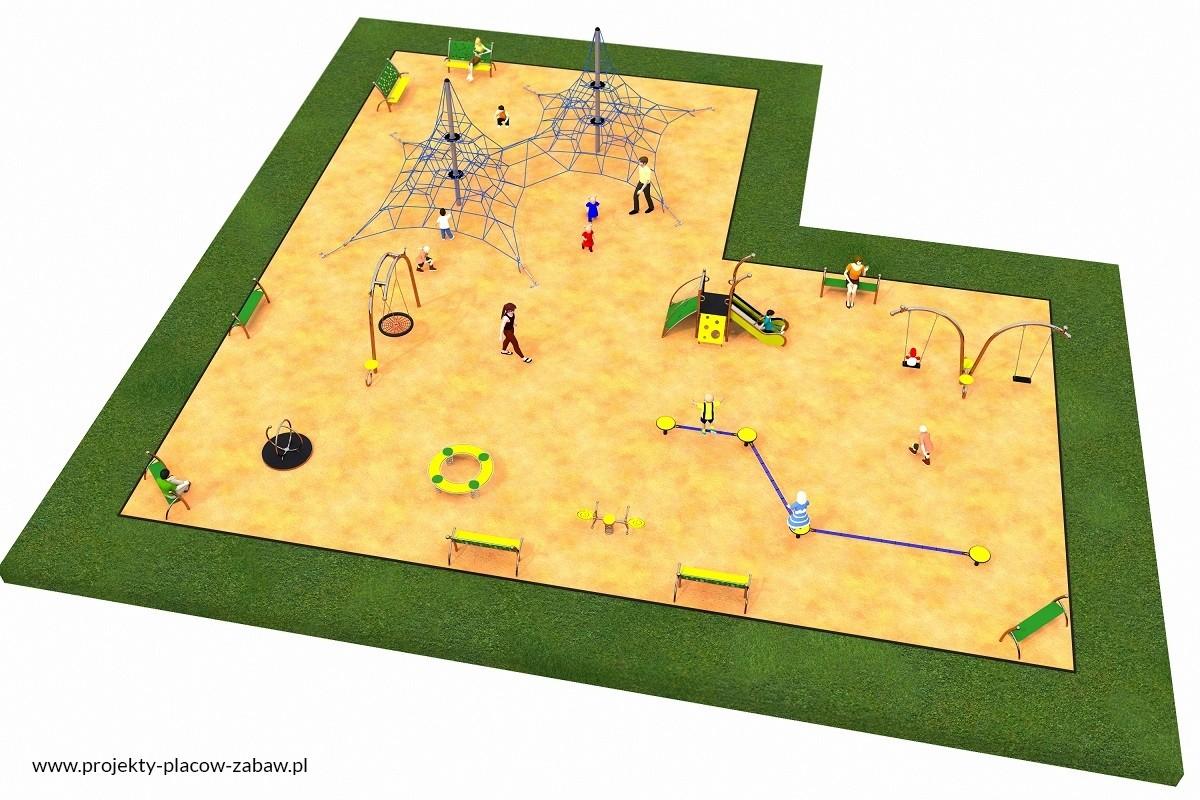 Projekt placu zabaw projekt LINARIUM 6a