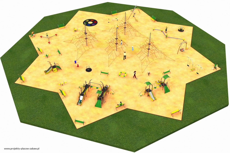 Projekt placu zabaw projekt MULTI 6