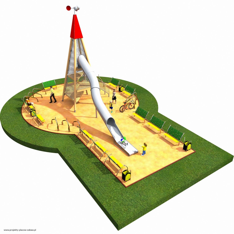 Projekt placu zabaw projekt WIEŻA WIDOKOWA 5