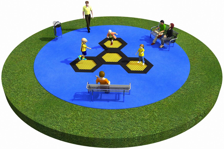 Projekt placu zabaw projekt TRAMPOLINY 01