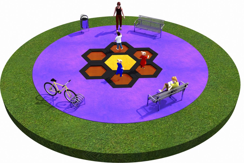 Projekt placu zabaw projekt TRAMPOLINY 02