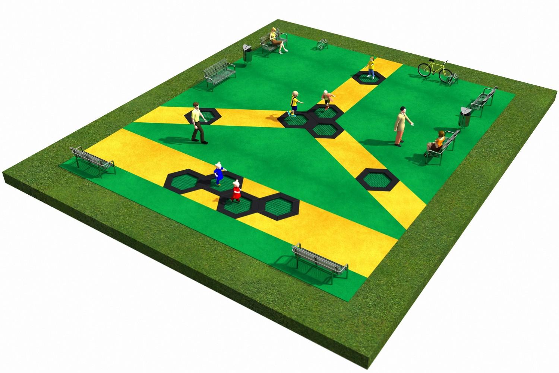 Projekt placu zabaw projekt TRAMPOLINY 04