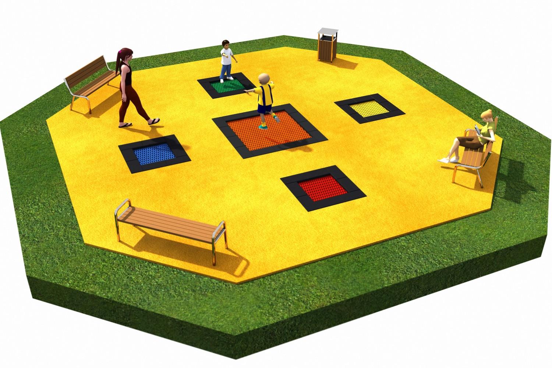 Projekt placu zabaw projekt TRAMPOLINY 11