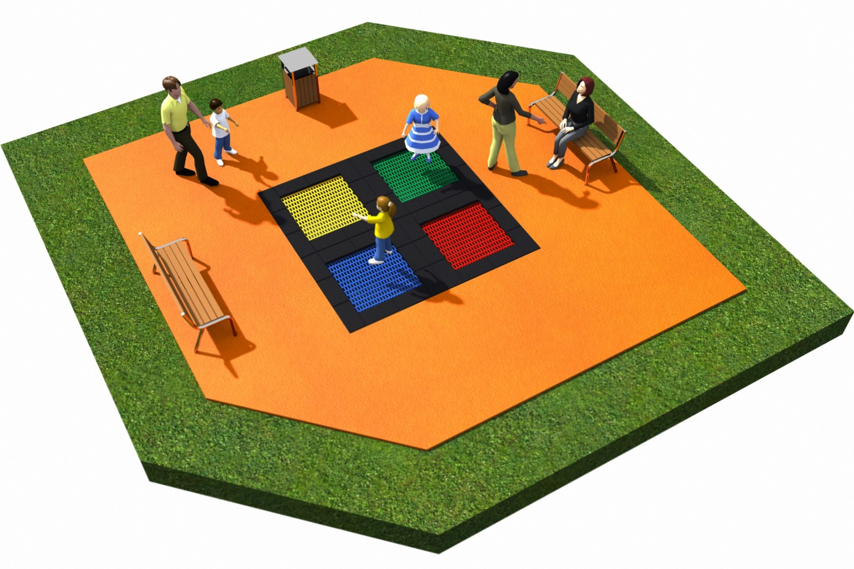 Projekt placu zabaw projekt TRAMPOLINY 18