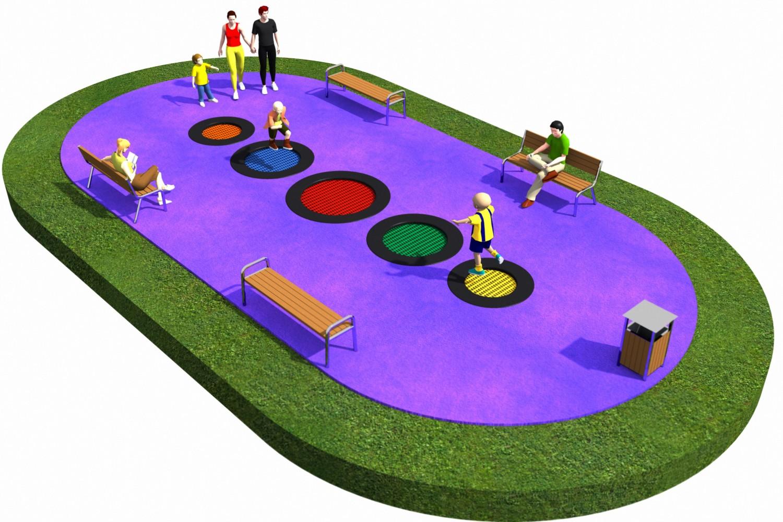 Projekt placu zabaw projekt TRAMPOLINY 20