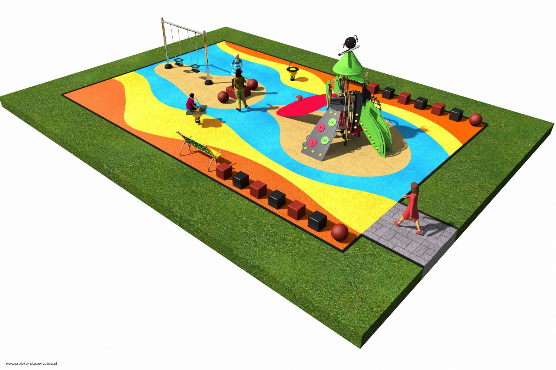 Projekt placu zabaw projekt COLOR KIDS 2 1
