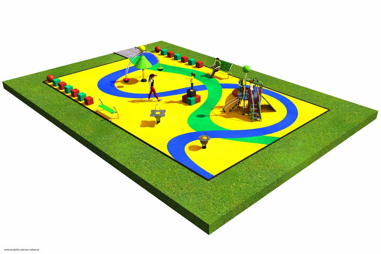 Projekt placu zabaw projekt COLOR KIDS 3 2