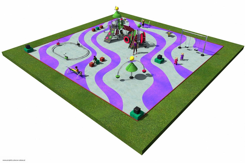 Projekt placu zabaw projekt COLOR KIDS 6 2
