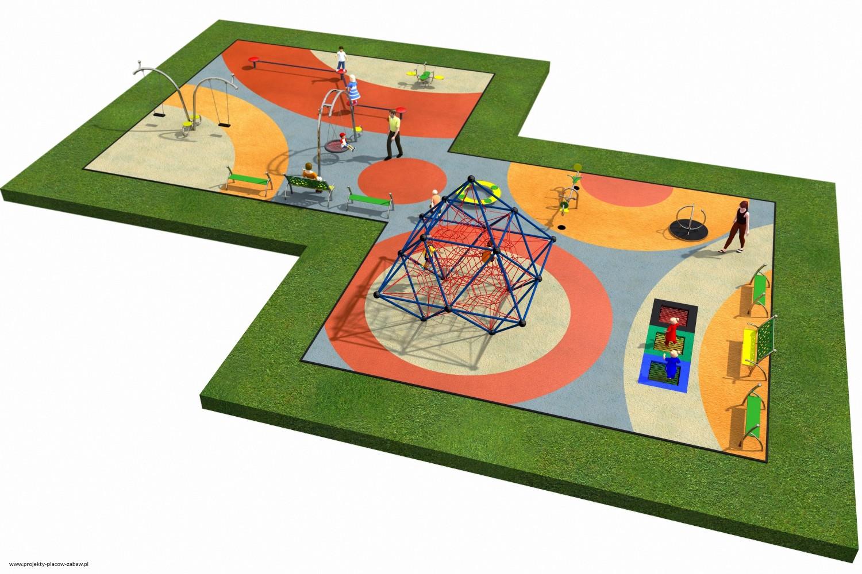 Projekt placu zabaw projekt LINARIUM 4 2