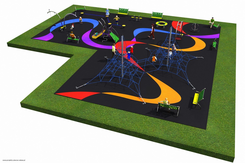 Projekt placu zabaw projekt LINARIUM 6a 2