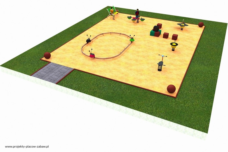 Projekt placu zabaw projekt COLOR KIDS 4 1