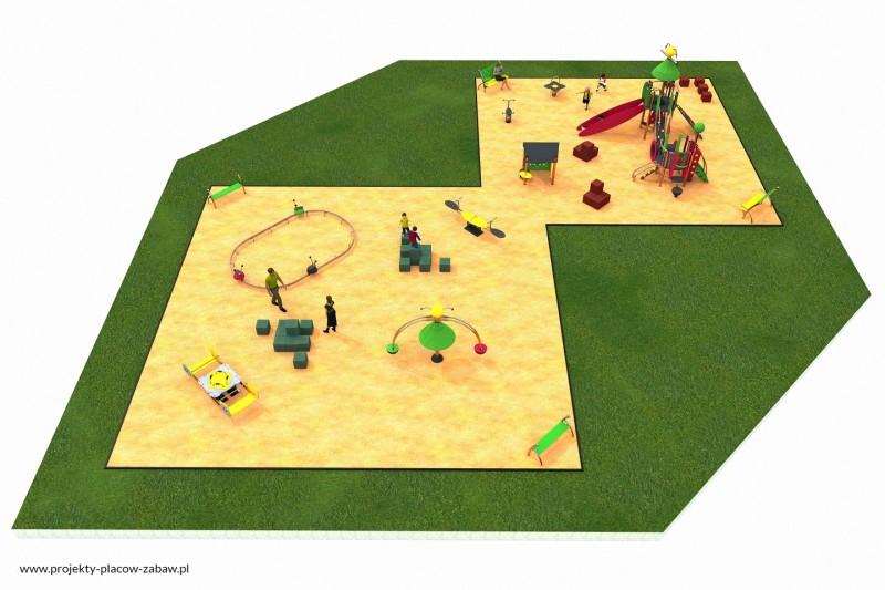 Projekt placu zabaw projekt COLOR KIDS 8 1
