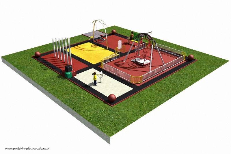 Projekt placu zabaw projekt INTEGRADO 1a 1