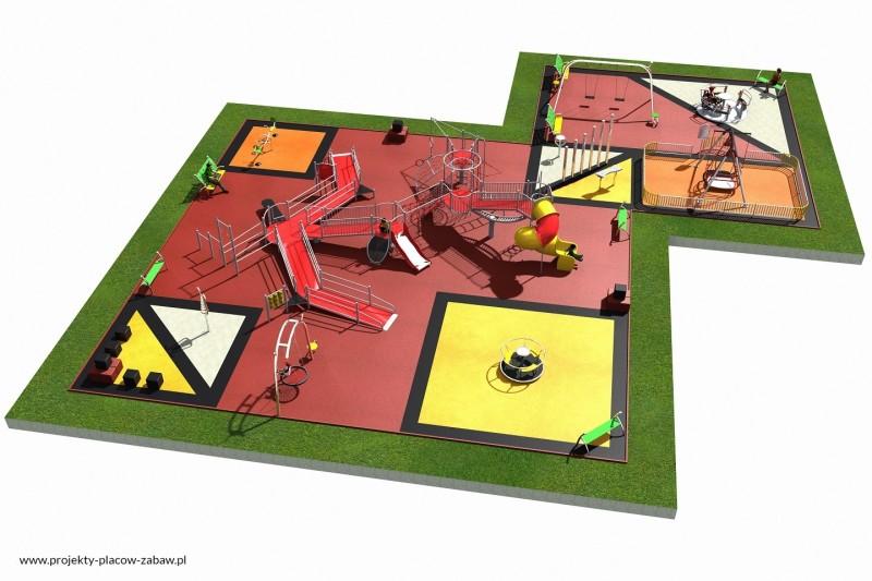 Projekt placu zabaw projekt INTEGRADO 4a 1