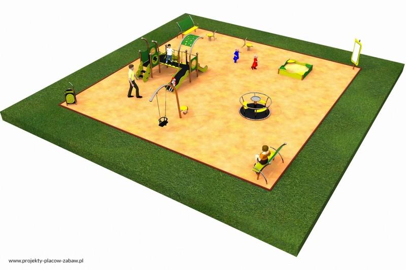 Projekt placu zabaw projekt LIMAKO MALUCH 2 1