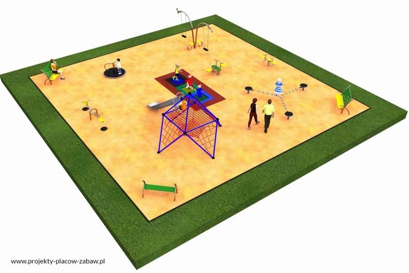Projekt placu zabaw projekt LINARIUM 1a 1