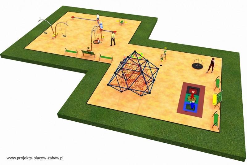 Projekt placu zabaw projekt LINARIUM 4 1
