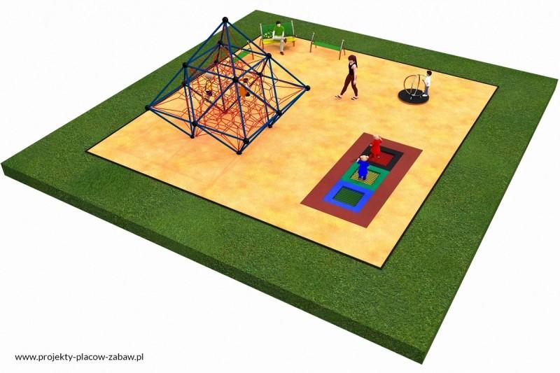 Projekt placu zabaw projekt LINARIUM 4a 1