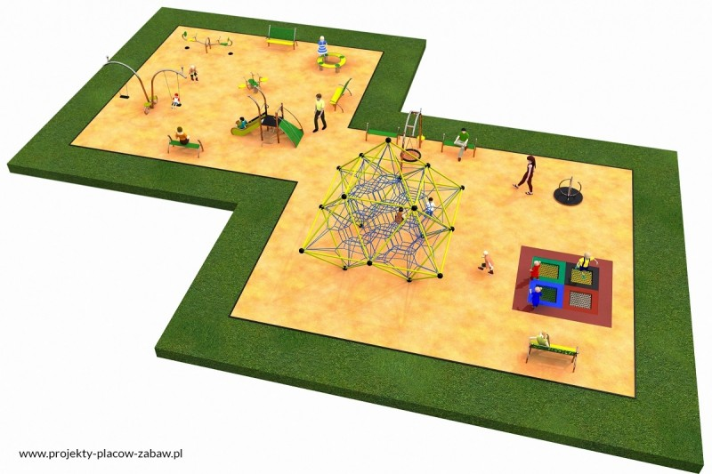 Projekt placu zabaw projekt LINARIUM 5a 1