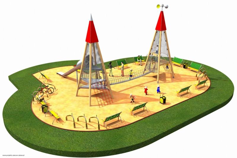 Projekt placu zabaw projekt WIEŻA WIDOKOWA 4 1