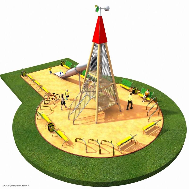 Projekt placu zabaw projekt WIEŻA WIDOKOWA 5 1