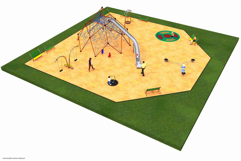 Projekt placu zabaw projekt LINARIUM 8