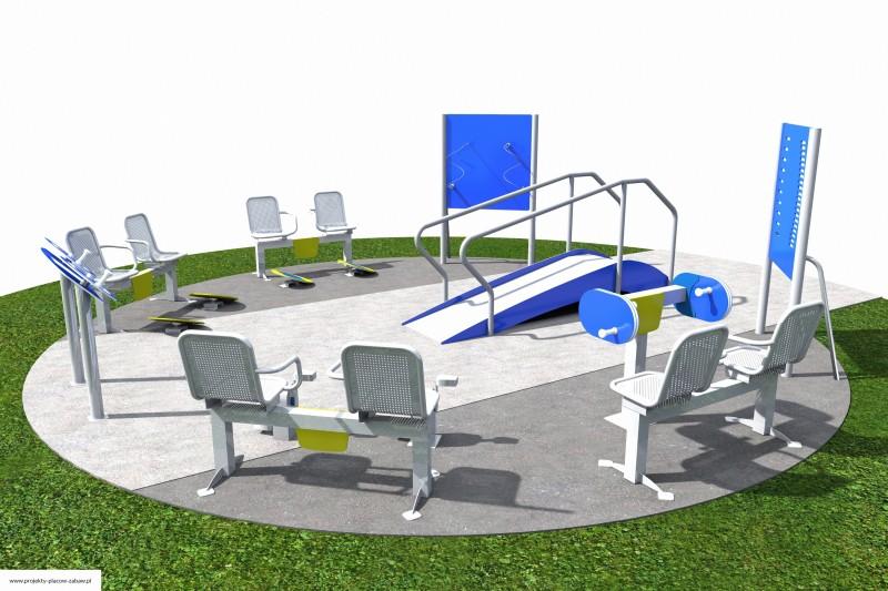 Projekt placu zabaw projekt ACTIVE SENIOR 7 2