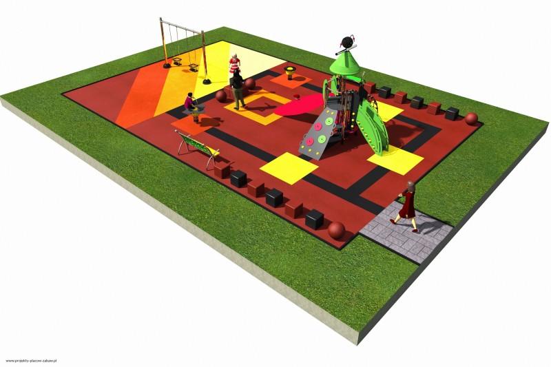 Projekt placu zabaw projekt COLOR KIDS 2 2