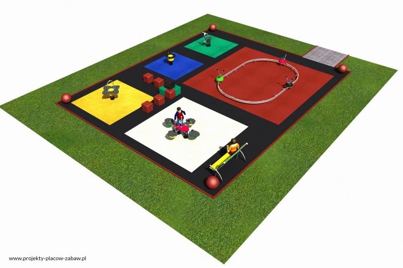 Projekt placu zabaw projekt COLOR KIDS 4 2