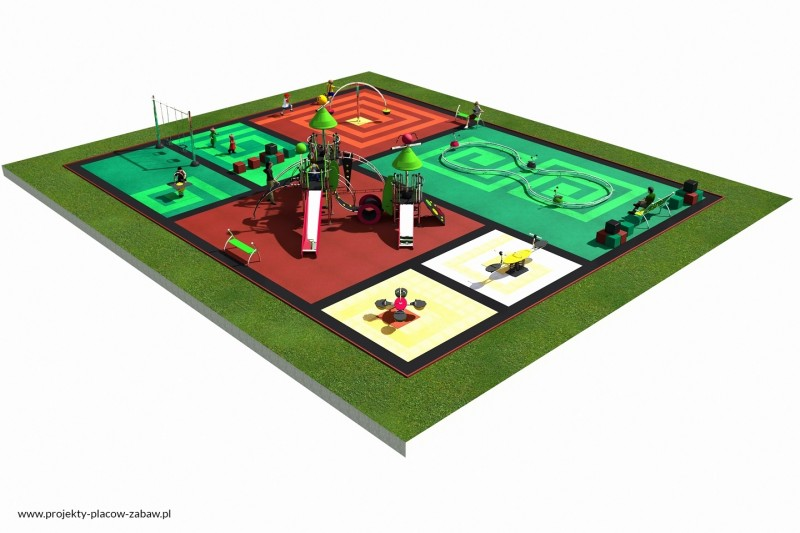 Projekt placu zabaw projekt COLOR KIDS 5 2