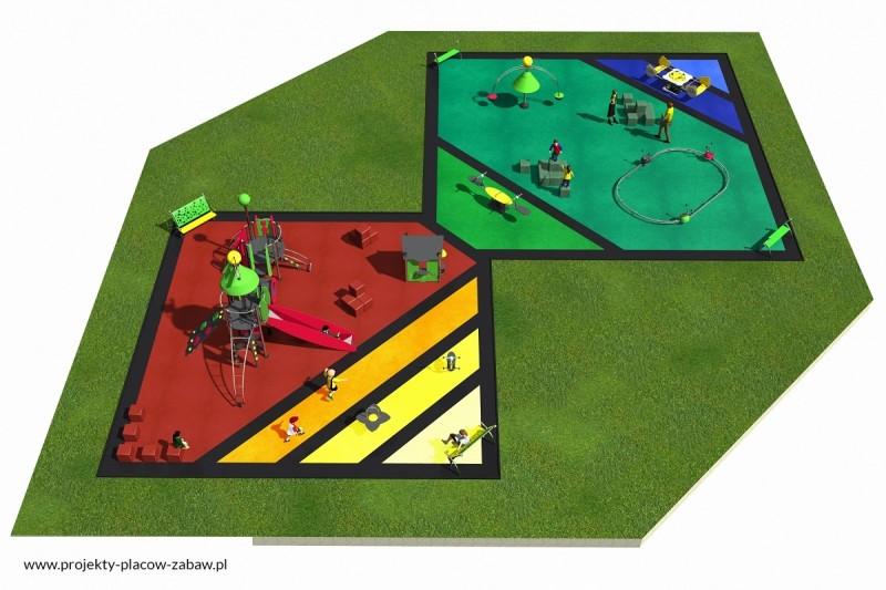 Projekt placu zabaw projekt COLOR KIDS 8 2