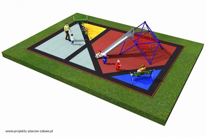 Projekt placu zabaw projekt LINARIUM 1 2