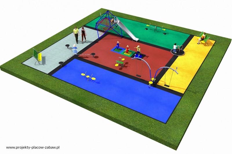 Projekt placu zabaw projekt LINARIUM 1a 2