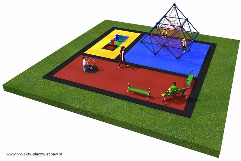 Projekt placu zabaw projekt LINARIUM 4a 2