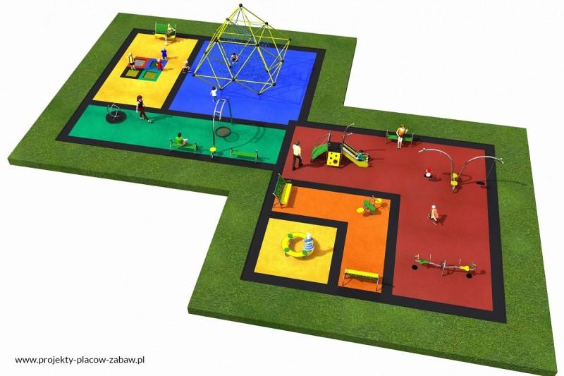 Projekt placu zabaw projekt LINARIUM 5a 2