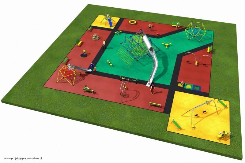 Projekt placu zabaw projekt MULTI 4 2