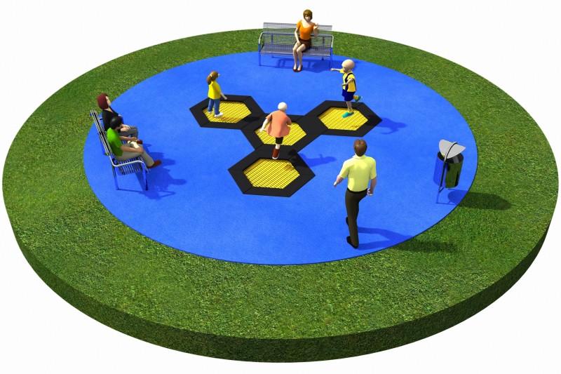 Projekt placu zabaw projekt TRAMPOLINY 01 2
