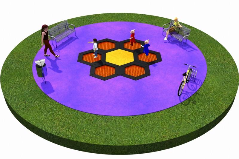 Projekt placu zabaw projekt TRAMPOLINY 02 2