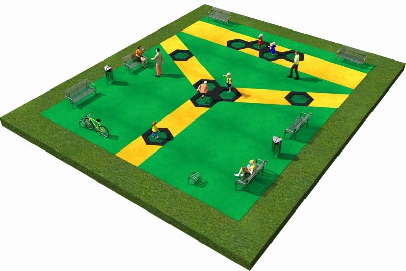 Projekt placu zabaw projekt TRAMPOLINY 04 2