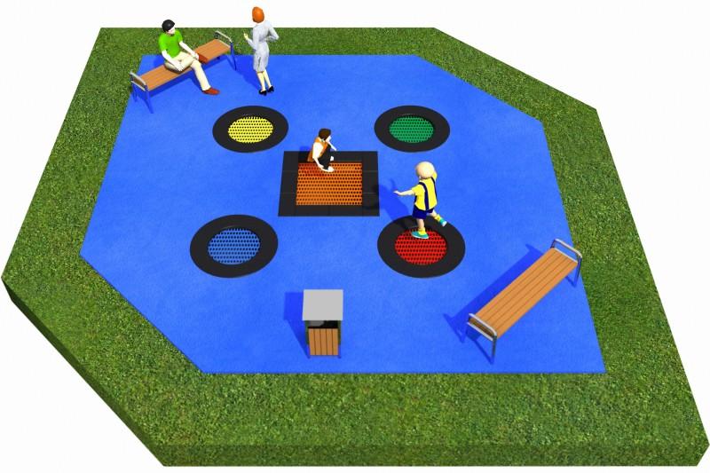 Projekt placu zabaw projekt TRAMPOLINY 17 2